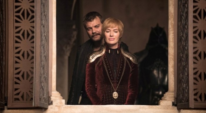 Szenenbild aus GAME OF THRONES - 8. Staffel (2019) - Euron (Pilou Asbæk) und Cersai (Lena Headey) - © HBO
