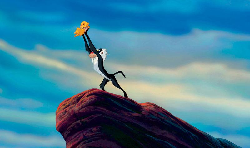 Szenenbild aus THE LION KING - DER KÖNIG DER LÖWEN (1994) - Rafiki und Simba - ©Disney Enterprises, Inc.  All Rights Reserved.
