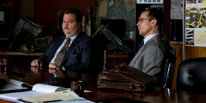 Szenenbild aus RICHARD JEWELL (2019) - Richard (Szenenbild aus RICHARD JEWELL (2019) - Richard (Paul Walter Hauser) und sperrt das Gelände um die Bombe ab. - © Warner Bros. Deutschland