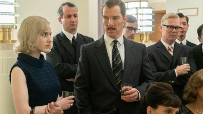 Szenenbild aus THE COURIER - CIA-Agentin Emily Donovan (Rachel Brosnahan) und der Geschäftsmann Greville Wynne (Benedict Cumberbatch) - © Liam Daniel / Telepool