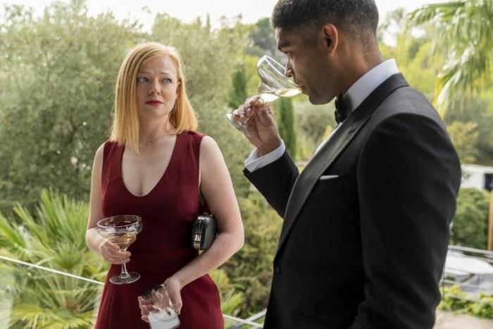 Szenenbild aus SOULMATES - 1. Staffel - Nikki (Sarah Snook) zweifel an ihrer Beziehung mit Franklin (Kingsley Ben-Adir) - © AMC