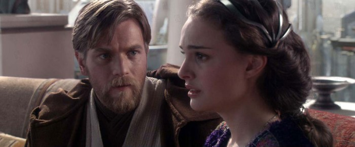 Szenenbild aus STAR WARS: EPISODE 3 - THE REVENGE OF THE SITH (2005) - Obi-Wan Kenobi (Ewan McGregor) warnt Padme (Natalie Portman) vor ihrem Mann. - © Lucasfilm Ltd.