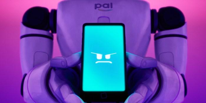 Szenenbild aus THE MITCHELLS VS THE MACHINES - Gegenspielerin Pal (Stimme von Olivia Colman) - ©2021 SPAI. All Rights Reserved.