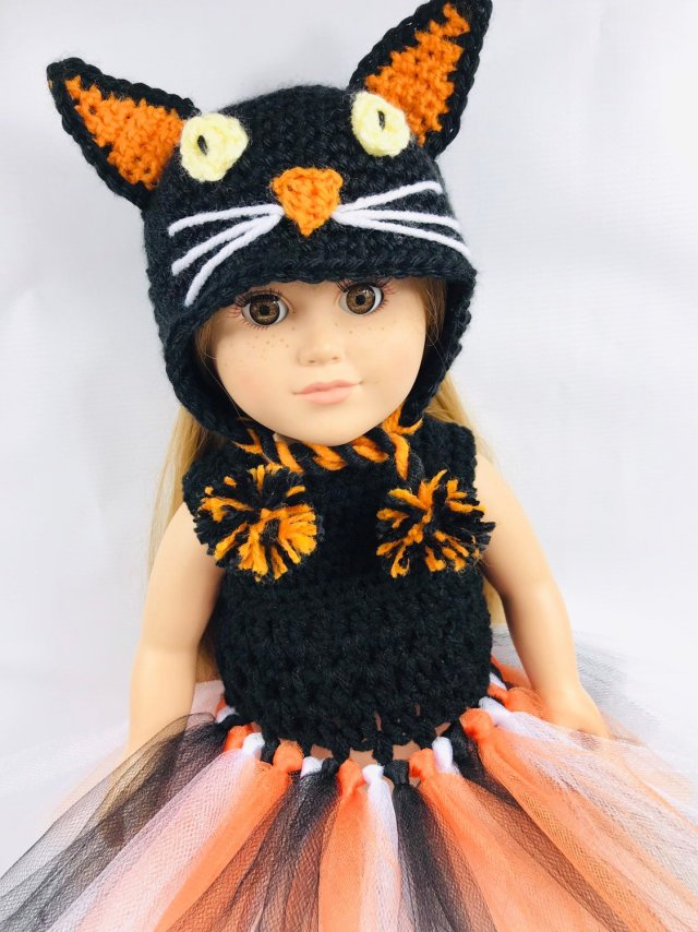 Free Crochet 18 Doll Beanie Pattern Adoring Doll Clothes