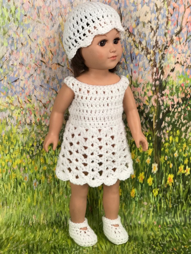 Free Crochet Pattern 18 Doll Easter Outfit Adoring Doll Clothes