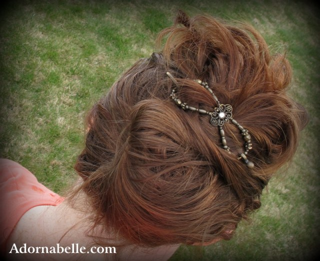 Lilla Rose Updo with Large Flexi Hair Clip
