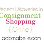 Recent Discoveries in Consignment Shopping {Online}
