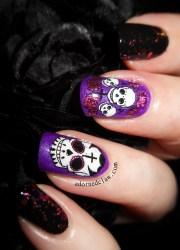 pink and purple sugar skulls
