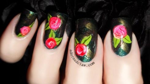 braided nail art adorned