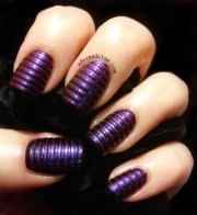 tape nail art adorned claw