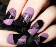 geometric nail with illamasqua