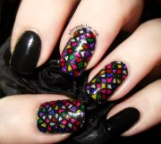 stained glass nail art adorned