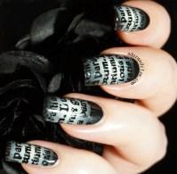 Gothic Text Nail Art