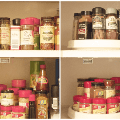 Revolving Spice Racks For Kitchen Coral Decor Home Improvement Before And After Adorned With Love