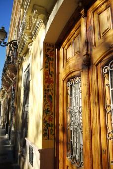 Beautiful tile decorates the doorways