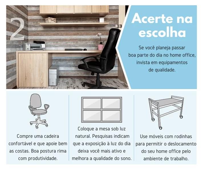 infográfico como montar um home office