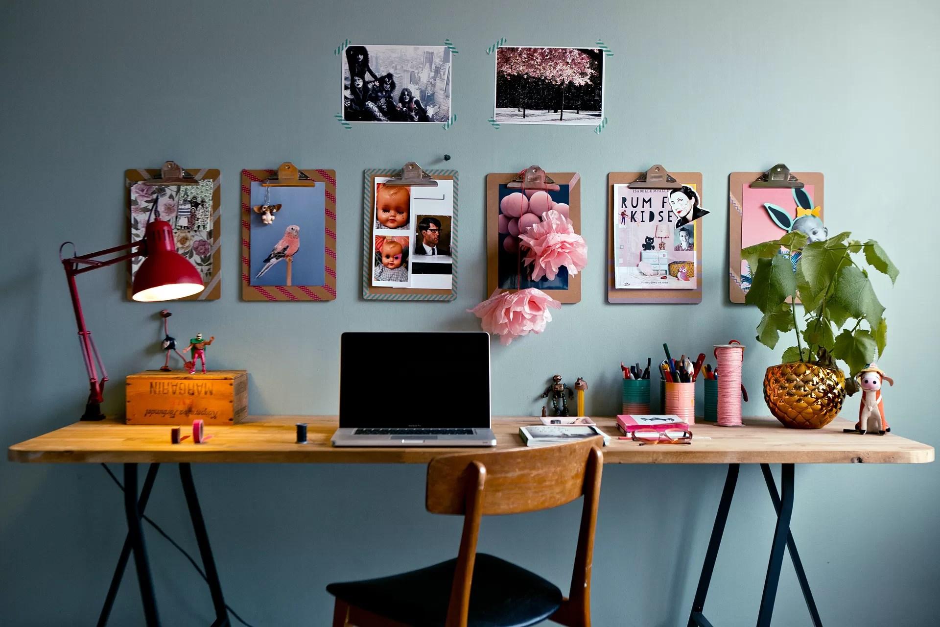 23 Creative Home Offices: Escrivaninhas Com Cavaletes