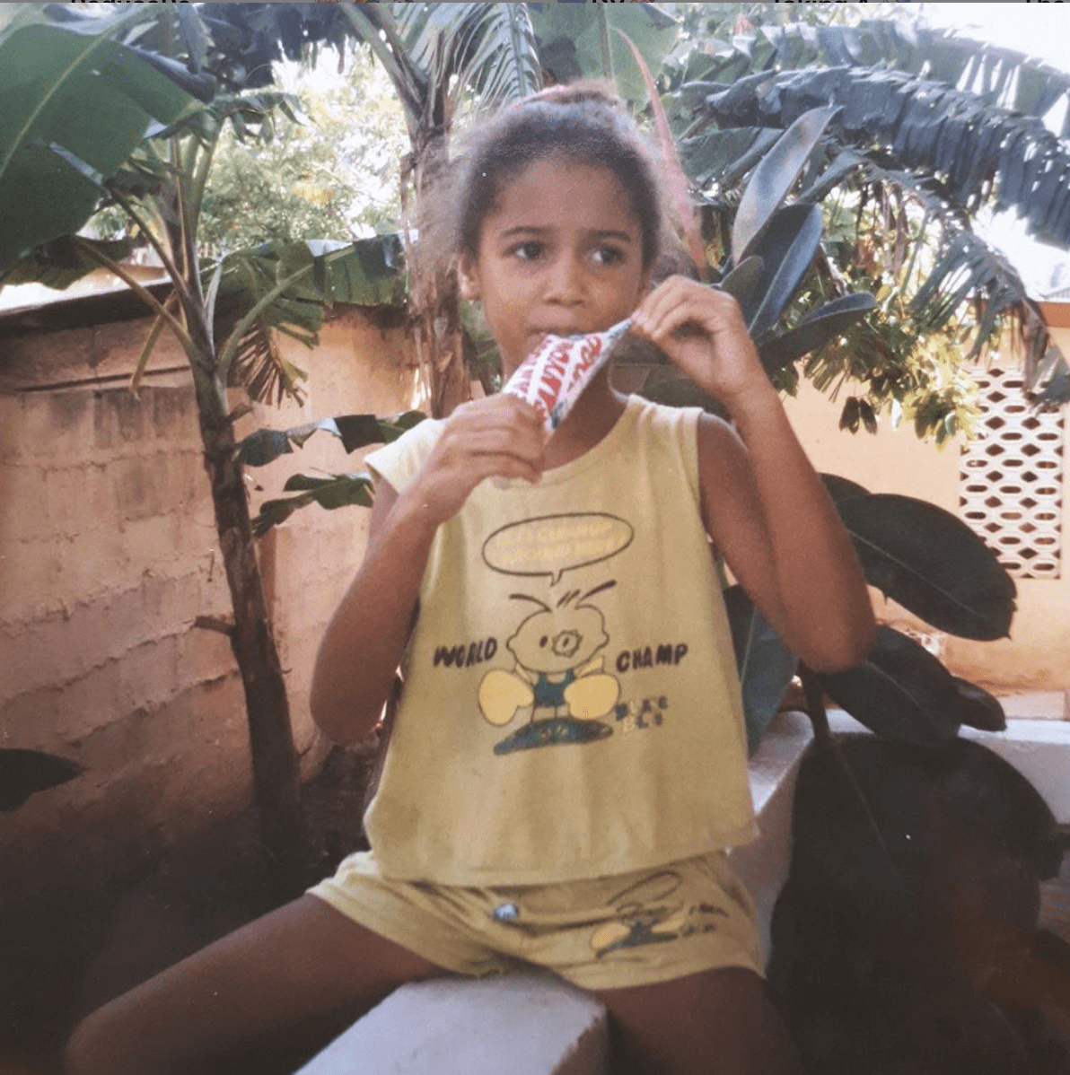 Can you guess who this little girl grew up to be?