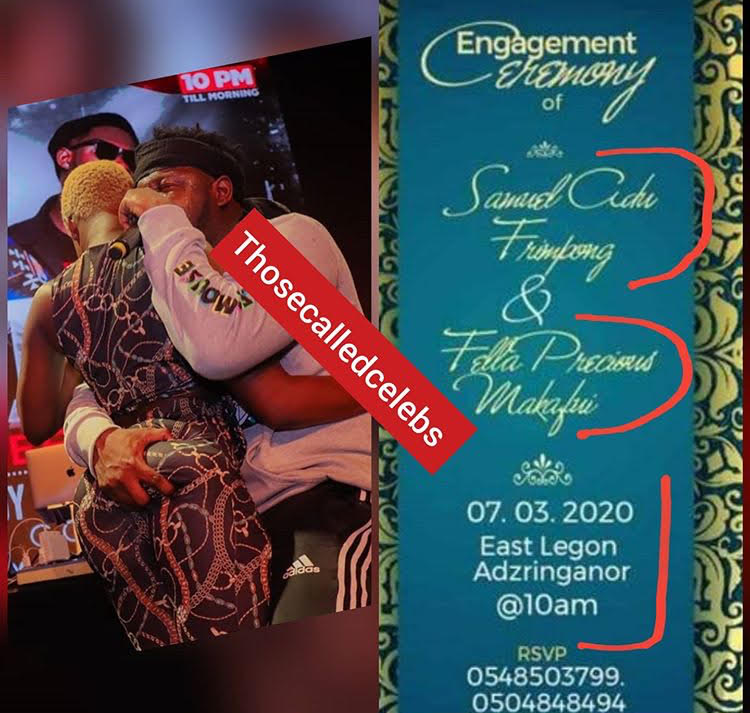 Stunt or real? Engagement invitation for Medikal and Fella Makafui pops up
