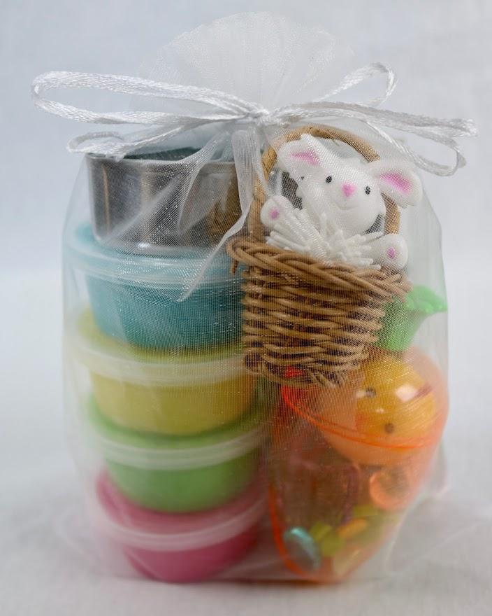 Easter playdough gift basket