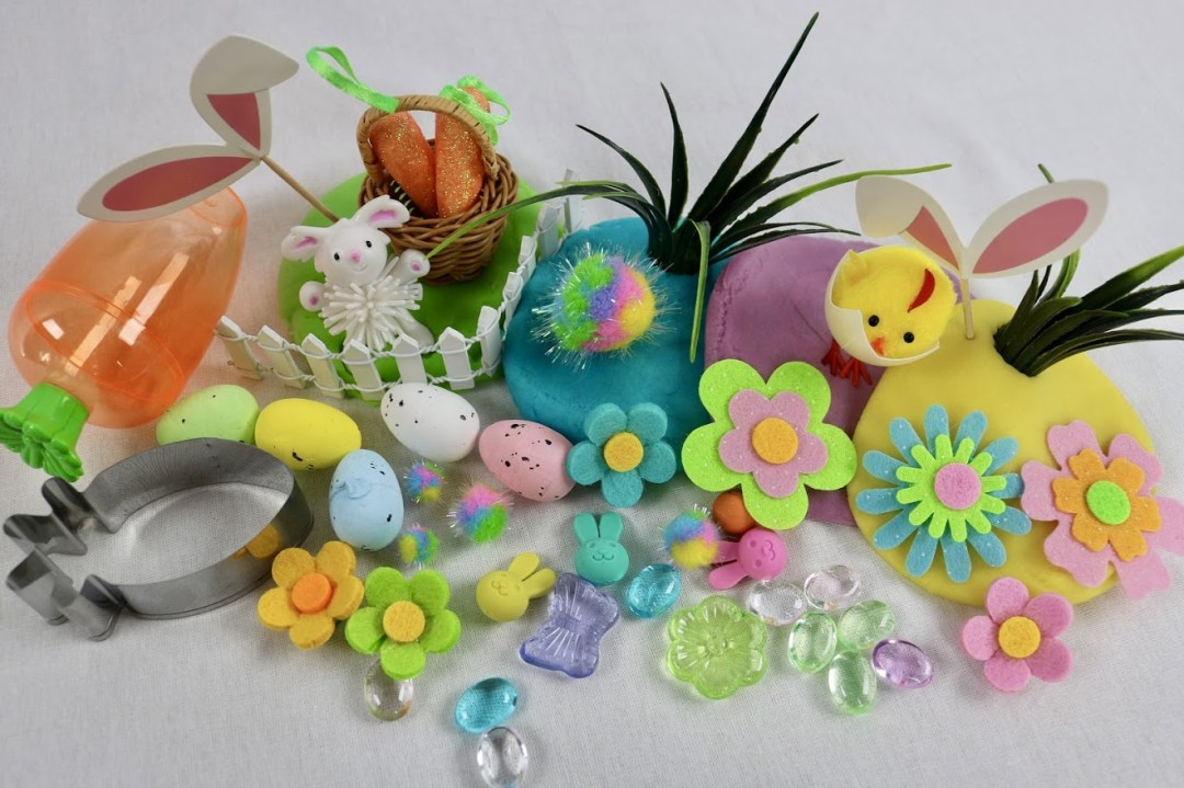 Easter playdough kits
