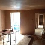Freshly plastered room
