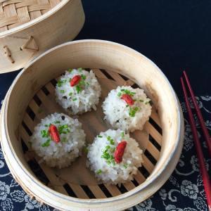 Chicken Mushroom Rice Balls