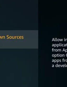 Habilitar aplicaciones de fuentes desconocidas en Firestick