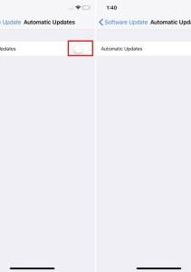 Cómo habilitar las actualizaciones automáticas en iOS 12