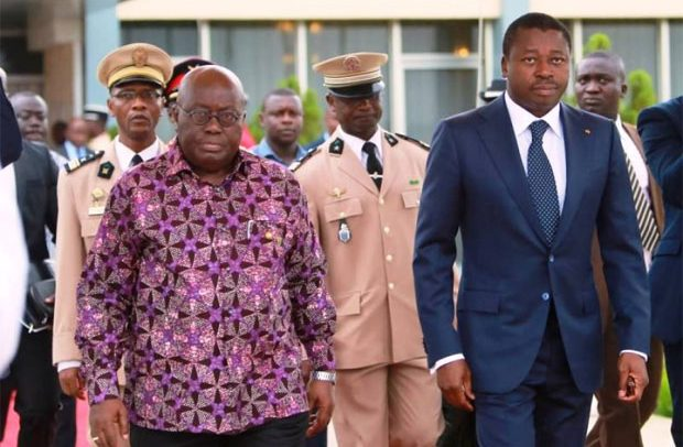 Presidents Akufo-Addo (left) is facilitating the negotations