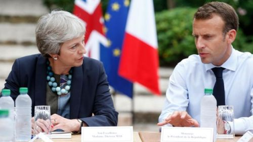 Mrs May is expected to set out to Mr Macron her rationale behind delaying Brexit