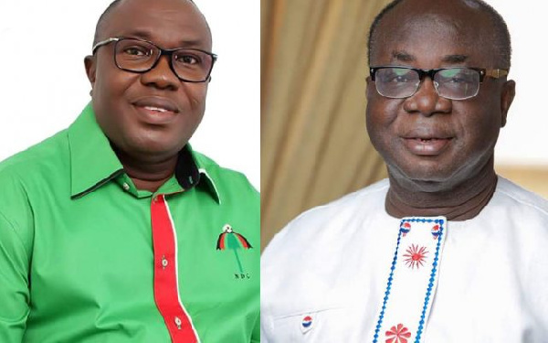 Samuel Ofosu Ampofo and Freddie Blay are leading their parties for the talks