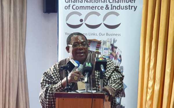 Nana Dr Appiagyei Dankawoso addressing the GNCCI members