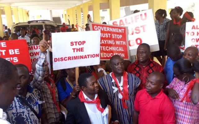 The strike is crippling the technical universities
