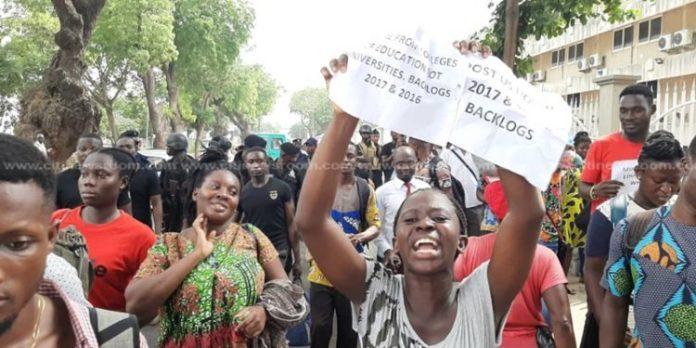 Trainee Teachers protest