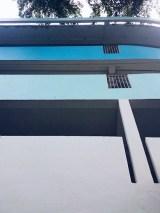 Blue architecture Singapore building
