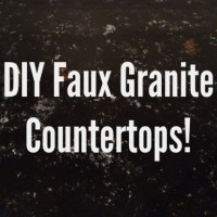 Faux Granite Countertops with Acrylic Paints? Yup, I Did It!