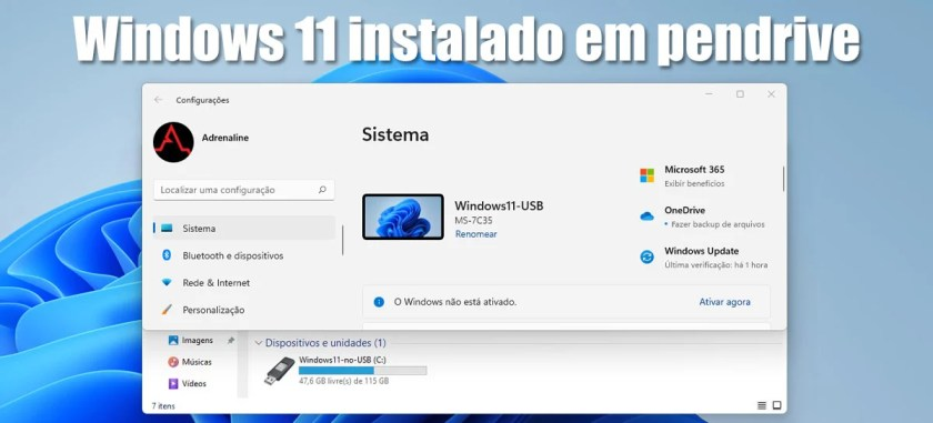 Installing Windows 11 on a USB stick to take wherever you want - step by step