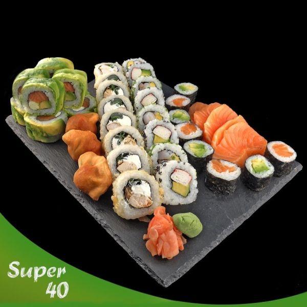 promocion de 40 piezas de Sushi