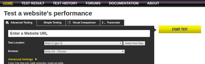 webtoolhub za merenje brzine sajta