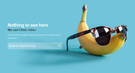 Mailchimp old 404 page