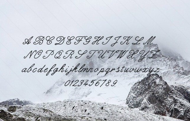 Gilded hand free font
