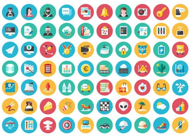 PSD icons set