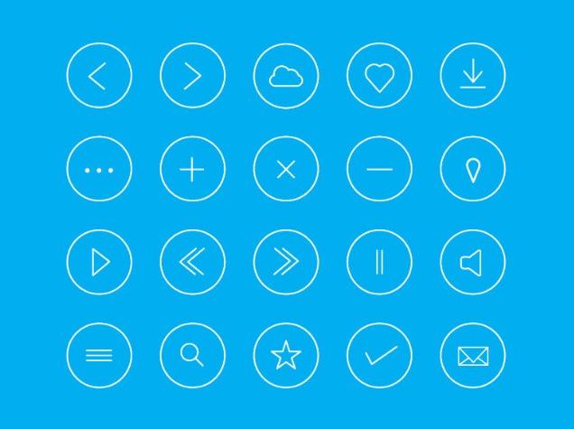 Round icon set