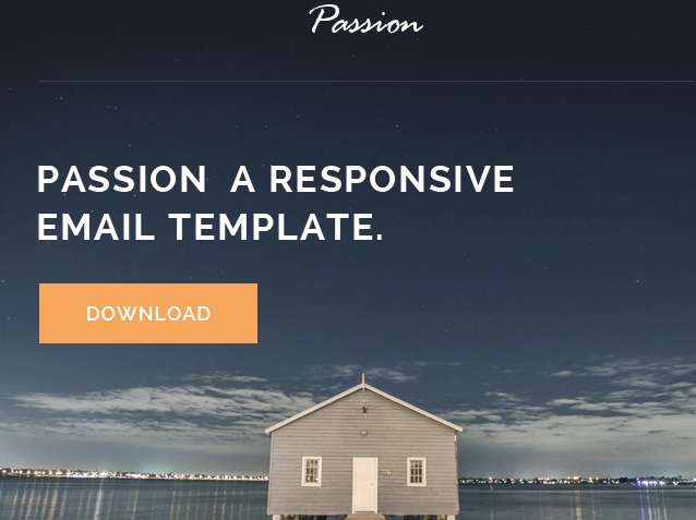 passion responsive email template freem
