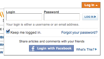 Let Users Login Without Having to Leave the Page