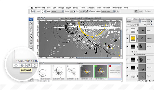 PixelNovel Timeline: Version Control for Adobe Photoshop