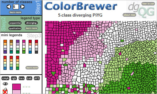 ColorBrewer Intro - Good Selecting Color Schemes for Maps
