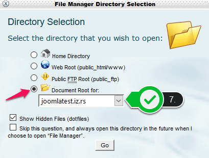 Joomla - file manager 2