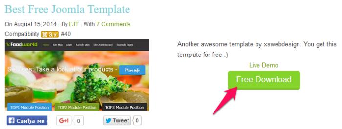 Joomla - free templates slika 1